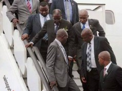 Watch your step: Mugabe guards on alert