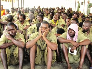 Prisoners at Chikurubi Maximum Security Prison