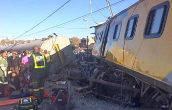 The train was travelling from Pretoria to Johannesburg. Pic: MedixGauteng