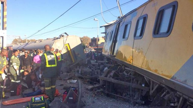 The train was travelling from Pretoria to Johannesburg. Pic: MedixGauteng