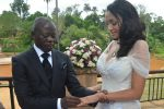Adams Oshiomhole and Iara Fortes