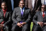 Zanu PF political commissar Saviour Kasukuwere (centre) seen here with President Robert Mugabe (right)
