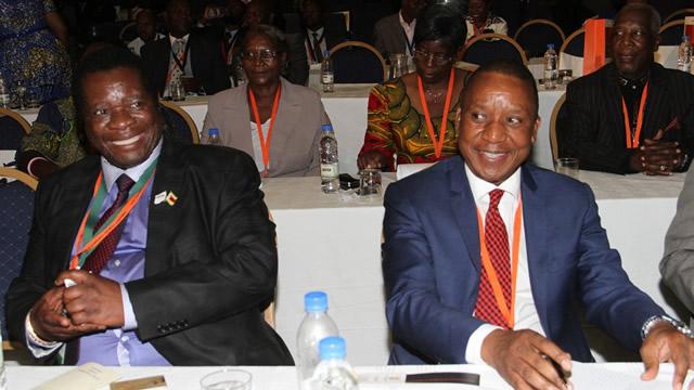 Mbada Diamonds Chairman Dr Robert Mhlanga and former KPCS monitor Mr Abbey Chikane