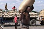 Workers offload maize at Beitbridge (REUTERS/Paul Cadenhead)