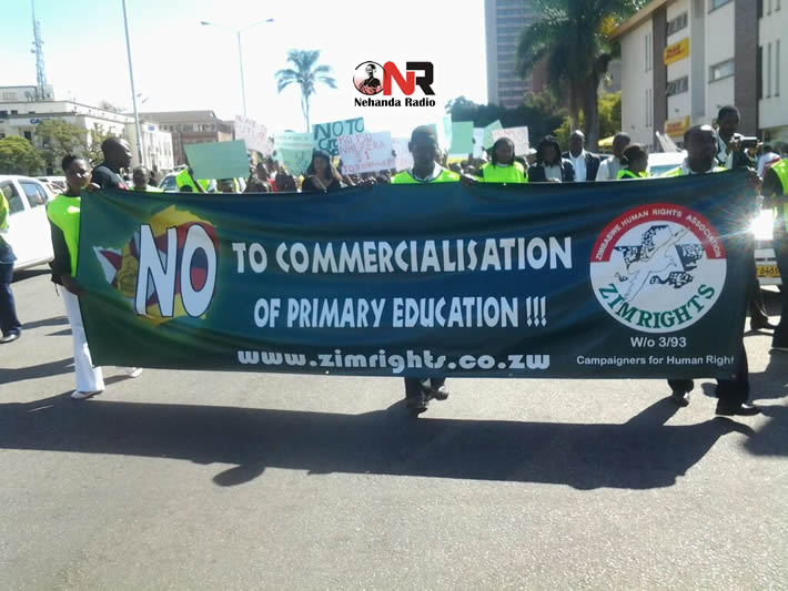 Zimrights lead march against introduction of Grade 7 exam fees