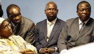 Johannes Tomana (centre) seen here with Vice President Emmerson Mnangagwa