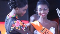 Emily Kachote being crowned by the Miss Zimbabwe Trust chair Mary Chiwenga
