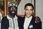 Close: The jovial note to Malik Abongo 'Roy' Obama (left) jokes about Malik's love life