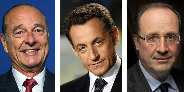 Chirac, Sarkozy and Hollande