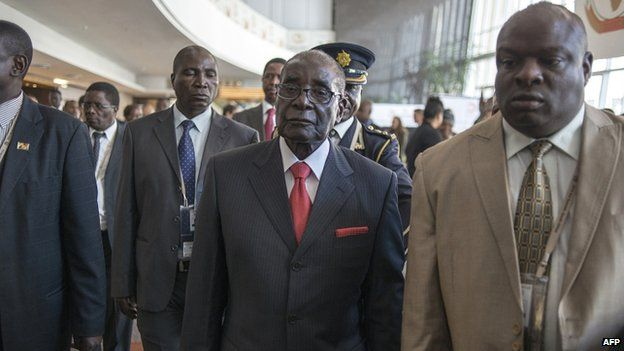 President Robert Mugabe seen here in South Africa for AU Summit