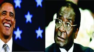 President Obama and Mugabe