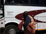 Zimbabwe national team coach Callisto Pasuwa (with blanket) seen here boarding a bus to Malawi this month for a match