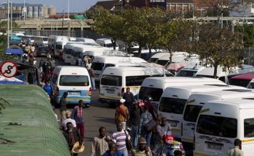 Brook Street taxi rank in Durban