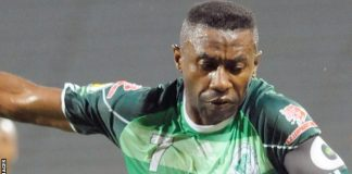 Congolese striker Rudy Guelord Bhebey Ndey