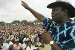 Opposition leader, Morgan Tsvangirai addressing a rally