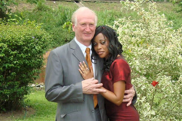 Battle for love ... Paul Catchpole with new wife Angele (Picture by Rob Howarth - The Sun)