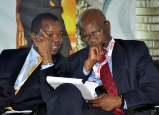 RBZ Governor Dr John Mangudya talks to Finance Minister Patrick Chinamasa