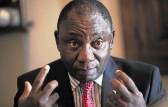 Deputy President Cyril Ramaphosa. File photo. Image by: ESA ALEXANDER