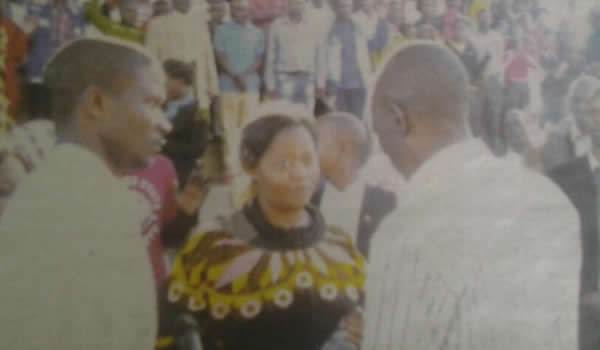 Fortunate Tafadzwa Mapako with pastor Paul Sanyangore
