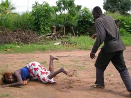 File picture depicting domestic violence