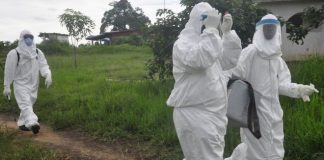 Liberian authorities on Tuesday quarantined an area on Tuesday where the teenager's corpse was found but two more cases have been announced