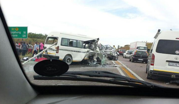 File picture of accident on the N1 in South Africa