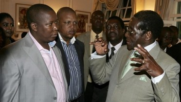 Julius Malema and Robert Mugabe