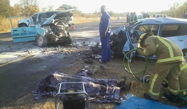 Seven perish in head on collision