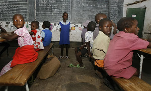 File picture of primary school children in Zimbabwe
