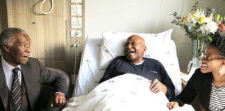IN GOOD SPIRITS: Former president Thabo Mbeki visited Archbishop Emeritus Desmond Tutu in hospital