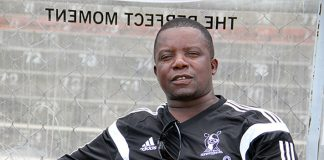 Highlanders coach Bongani Mafu had to be escorted by riot police to the team bus