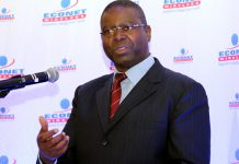 Econet chief executive officer Mr Douglas Mboweni