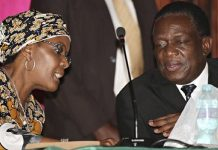 First Lady Grace Mugabe seen here with Vice President Emmerson Mnangagwa