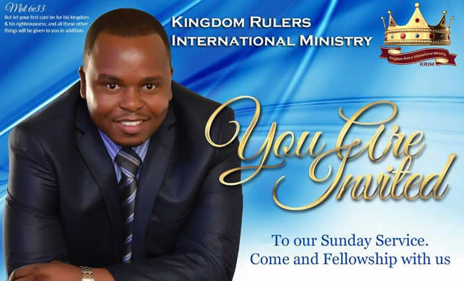 Greatness Tapfuma, 33, the founder of Kingdom Rulers International Church