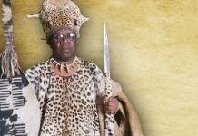 King Bungane III of the royal Kingdom of Embo
