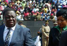 Morgan Tsvangirai and wife Elizabeth