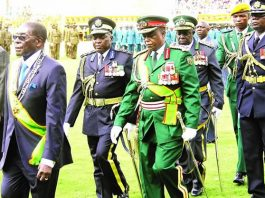 President Robert Mugabe and some of his generals