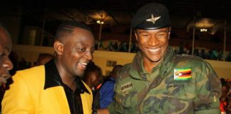 Jah Prayzah (right) seen here with Suluman Chimbetu