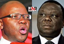 Tendai Biti and Morgan Tsvangirai