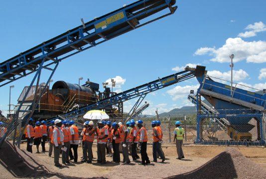 File picture of diamond mining in Zimbabwe