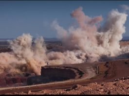 File picture of a blast at a mine