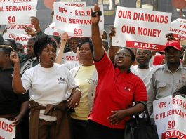 File picture of teachers on strike in Zimbabwe