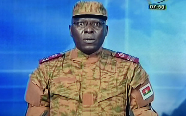 Lt-Col Mamadou Bamba announced the coup on national television on Thursday