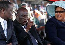 Morgan Tsvangirai seen here with the late General Solomon Mujuru and his wife Joice Mujuru
