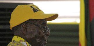 Mugabe sweating at the Zanu PF congress in December 2014