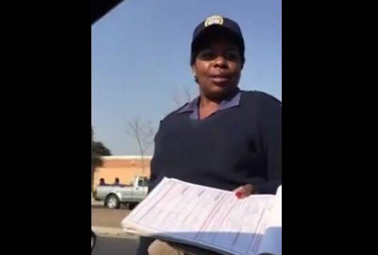 Brassy female metro cop video goes viral