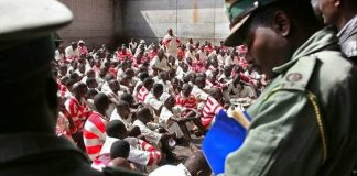 Zimbabwe Prison Service officers at work