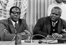 Robert Mugabe seen here with the late Joshua Nkomo