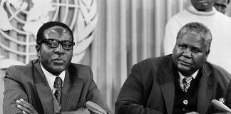 Robert Mugabe seen here with the late Joshua Nkomo