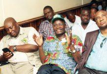 Saviour Kasukuwere, Jonathan Moyo and Philip Chiyangwa